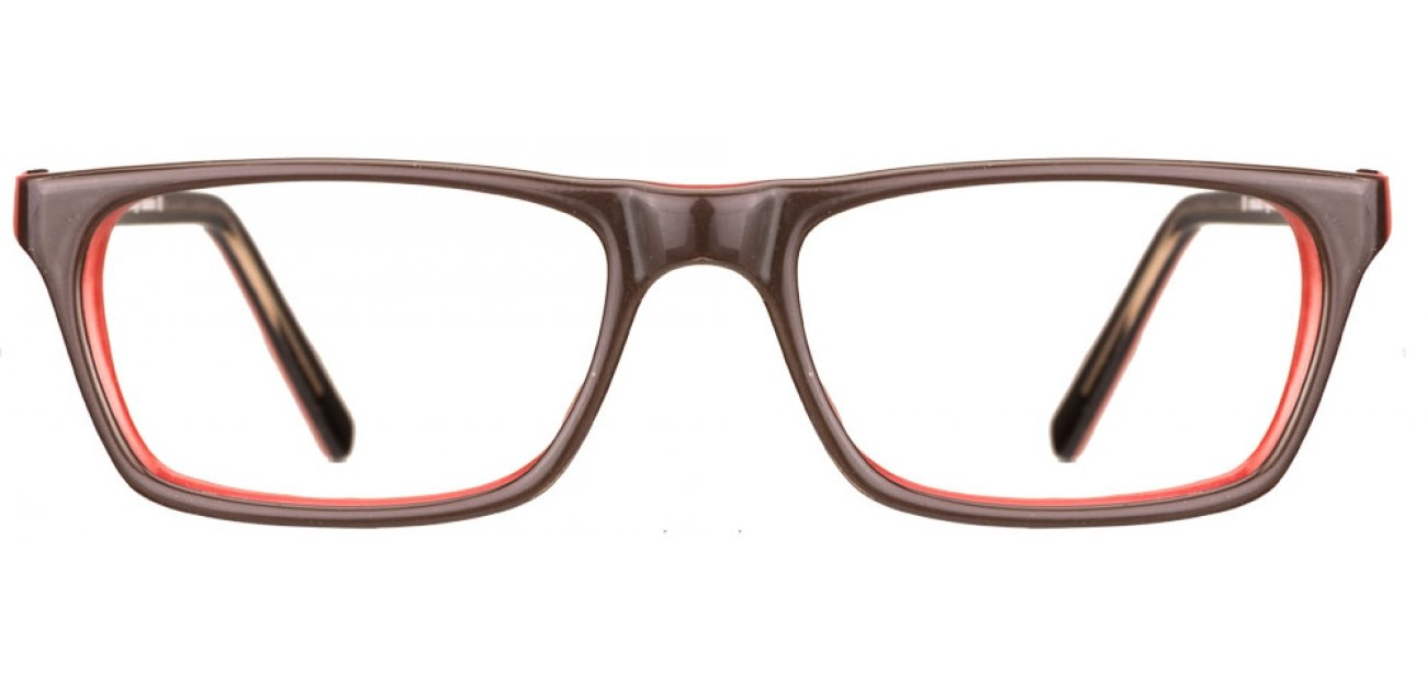 Free Frame : Vincent Chase Vagabond VC 6384 Brown Red Line XYXY Eyeglasses