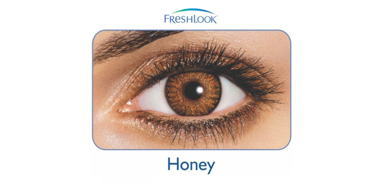 Freshlook Colorblends Honey Color Lenses (2 Lenses/box) Ciba Vision