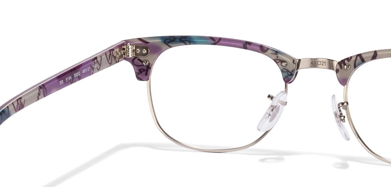 Dimensions Of Eyeglass Frames : Ray Ban Rx5154 Clubmaster Eyeglasses Size
