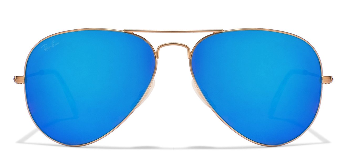 Ray Ban Rb3025 Aviator Sunglasses  ray ban rb3025 112 17 size 58 matt golden blue reflector