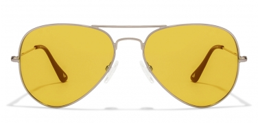 eyeglasses shades wnto  Silver Black Light Yellow Aviator Sunglasses Vincent Chase Top VC 5158