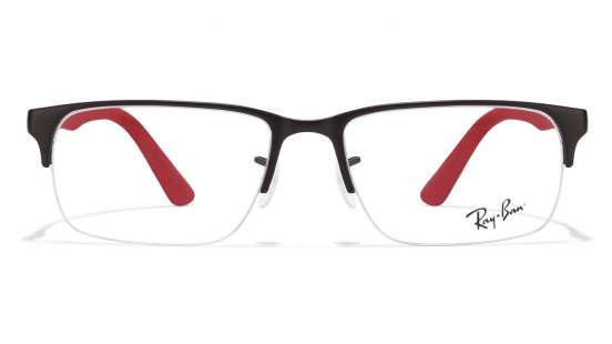 ray ban vision 13io  Ray-Ban RX6305 Size:54 Black Red Black 2503 Eyeglasses