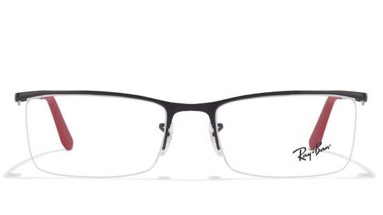 ray ban clubmaster measurements l90y  Ray-Ban RX6323 Size:54 Black Red 2509 Eyeglasses