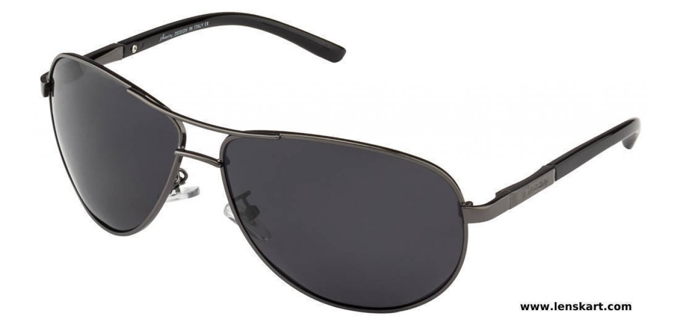 fb447344fe Shop online for Velocity HA86210 Gunmetal Polarized Grey Aviator Shape  Style Sunglasses
