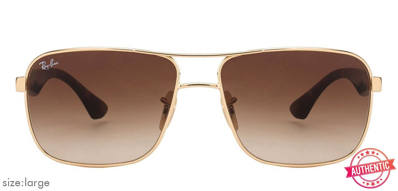 e8a2b771b66 Ray-Ban RB3516 Large (Size-62) Golden Brown Gradient Unisex  001-13  Sunglasses