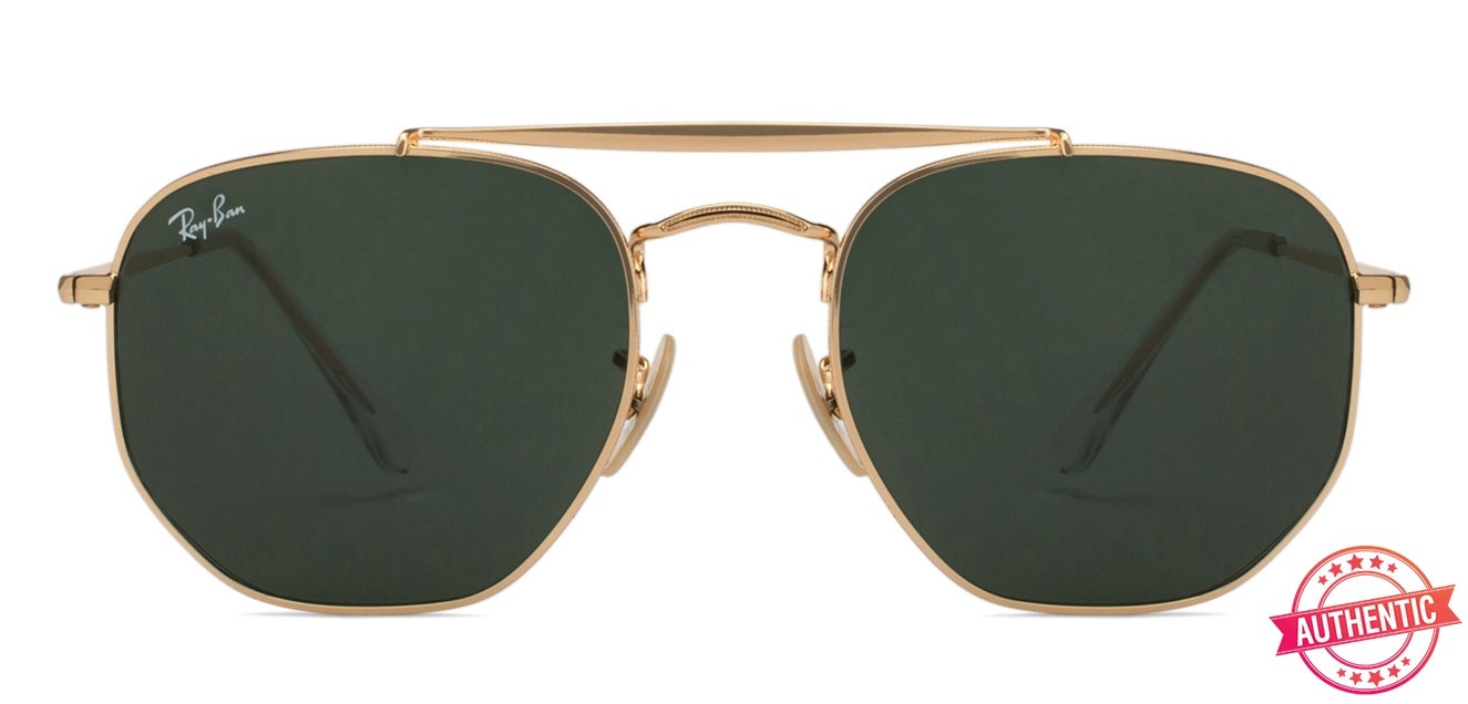 155ec4856d Ray-Ban RB3648 Marshal Small (Size-54) Golden Green 001 Unisex Sunglasses