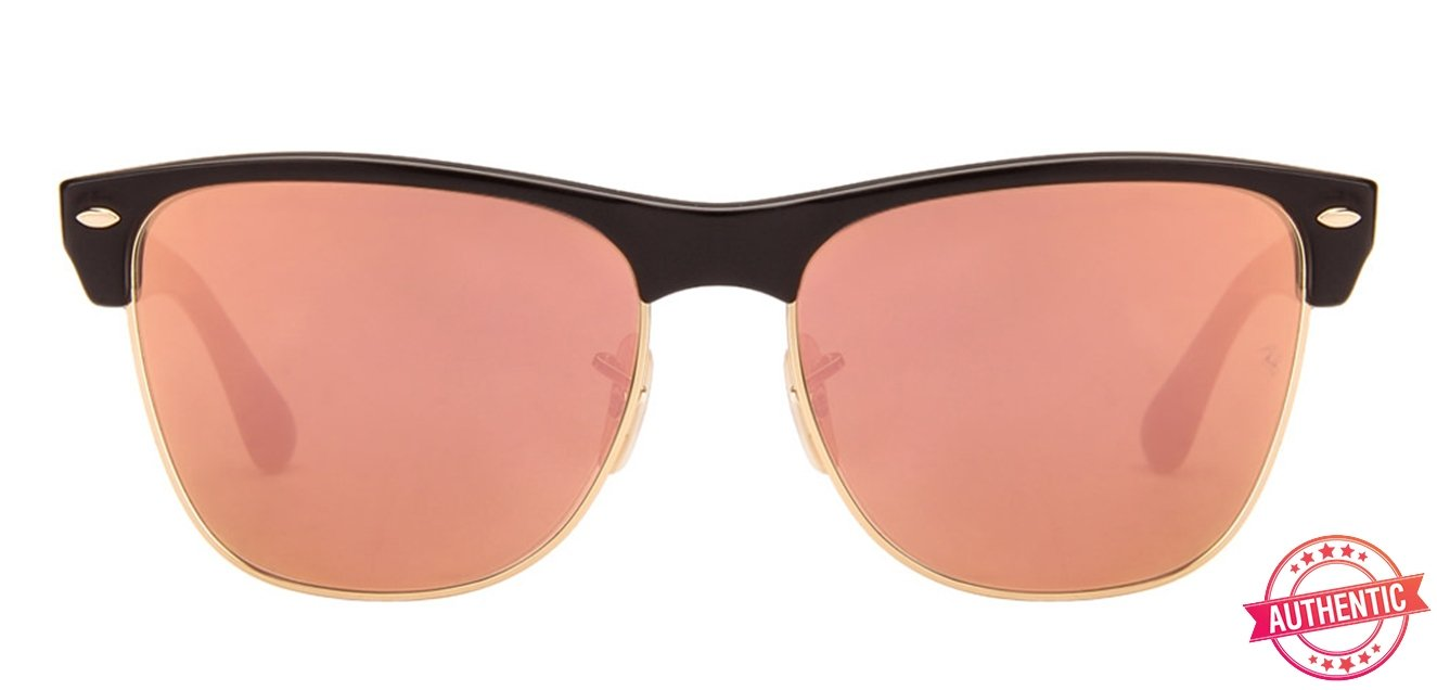 68870bc9c75 Ray-Ban RB4175 Medium (Size-57) Black Golden Pink Mirror Unisex 877-z2  Sunglasses