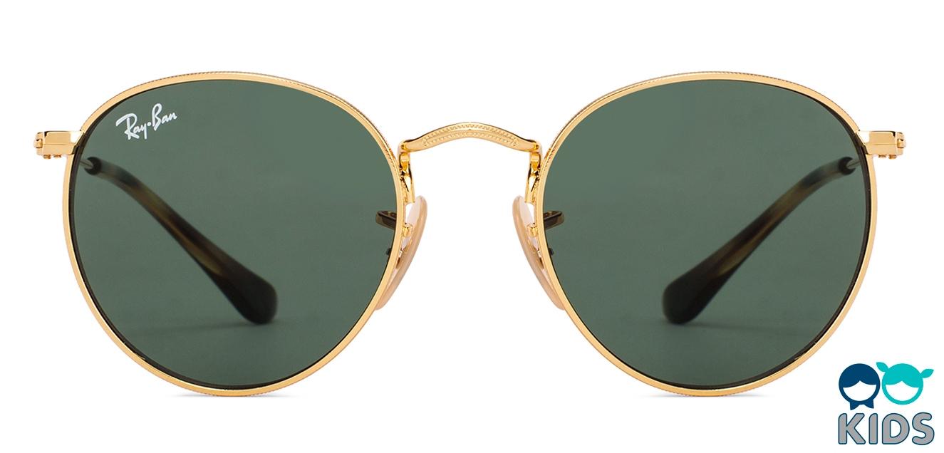 cb1600222c Ray-Ban RJ9547S Small (Size-44) Golden Tortoise Green 223 71 Kids Sunglasses  at LensKart.com