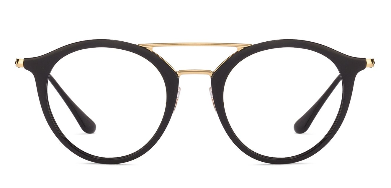 9a2c626984 Ray-Ban Rx7097 Small (Size-49) Black Golden 2000 Unisex ...