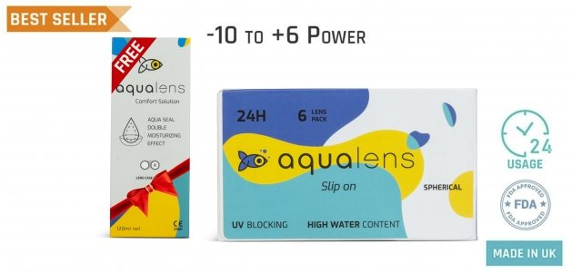 Aqualens  Monthly 24 Hours (6 Lens)