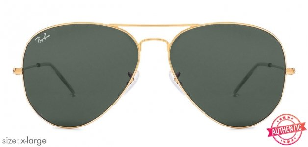 6c819d1ec5148 product-img. Ray-Ban RB3026 X-Large (Size-62) Golden Green Unisex w2027  Sunglasses