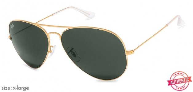 42756fcf27b8 Ray-Ban RB3026 X-Large (Size-62) Golden Green Unisex w2027 Sunglasses