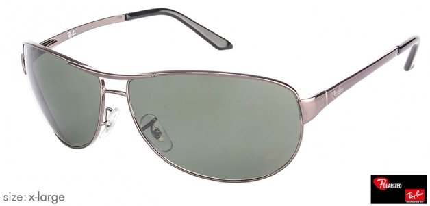 3b66feec61 Shop online for Ray-Ban RB3342 X-Large (Size-63) Gunmetal Green 004 58 Men Polarized  Sunglasses