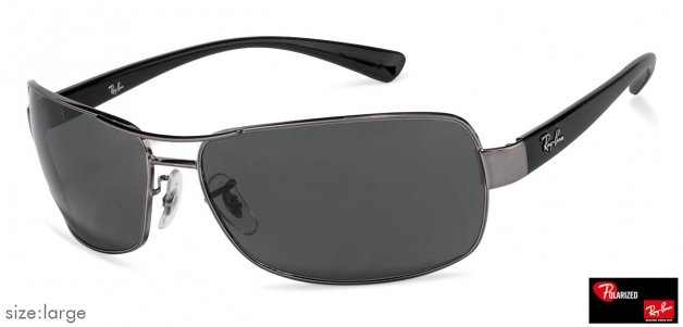 Shop online for Ray-Ban RB3379 Large (Size-64) Gunmetal Green 004 58 Men Polarized  Sunglasses fb11f5cbe420