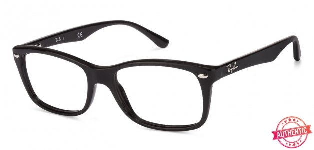 1b41ba095876 Shop online for Ray-Ban Rx5228 Medium (Size-53) Black 2000 Unisex Eyeglasses