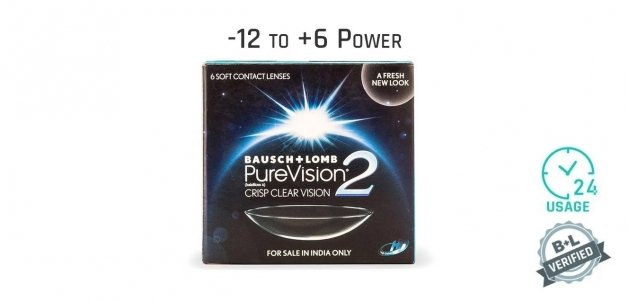 Bausch & Lomb Purevision2 HD Monthly 24 Hours (6 Lens)