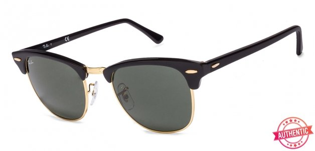 dd1d45ef32f Ray-Ban RB3016 Medium (Size-51) Golden Black Green Men Ebony-arista  Sunglasses