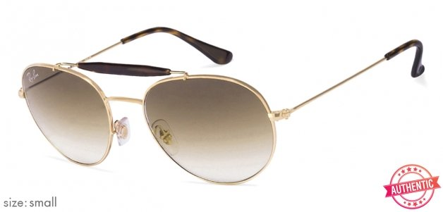 7f228f80b96 Ray-Ban RB3540 Small (Size-53) Golden Tortoise Brown Gradient 001 51 Unisex  Sunglasses