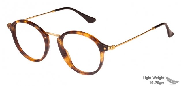 7f9e94303c Ray-Ban Rx2447-V Small (Size-49) Golden Brown 5494 Unisex Eyeglasses